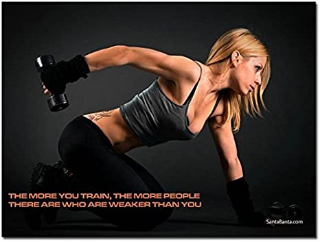 Bodybuilding Fitness Motivational Art Silk Poster 24x36 inch Gym Room Decoration