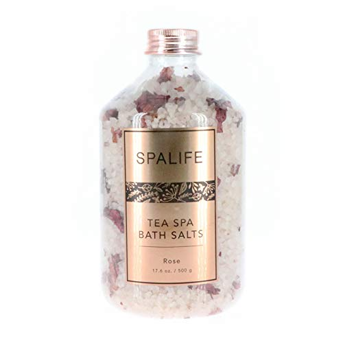 My Spa Life Bath Salts With Dried Flowers Rose
