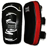 Curved Leather Thai Pad for Muay Thai, MMA, Kickboxing