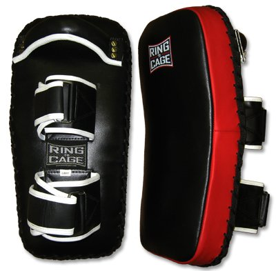 Curved Leather Thai Pad for Muay Thai, MMA, Kickboxing by Ring to Cage