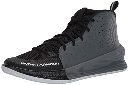 Under Armour Men's Jet 2019 Basketball Shoe Running, Black (001)/Pitch Gray, 7.5 (Shoe For Basketball)