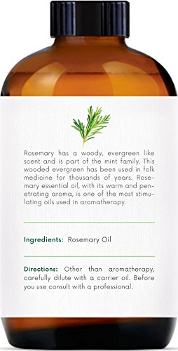 Handcraft Rosemary Essential Oil - 100 Percent Pure and Natural - Premium Therapeutic Grade with Premium Glass Dropper - Huge 4 oz