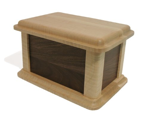 J.K. Adams 200-Cubic-inches Walnut and Birdseye Maple Wood Burial Urn made in Vermont