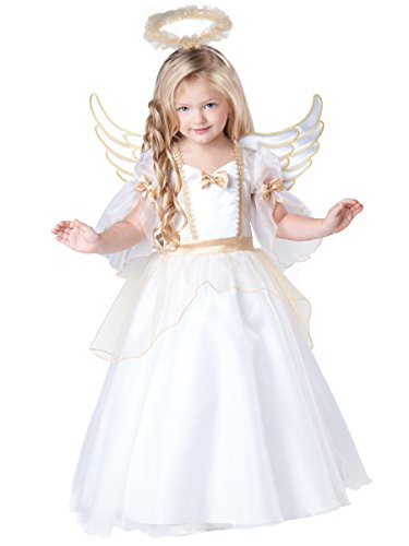 [InCharacter Baby Girl's Angel Costume, White, 4T] (Girl Angel Costumes)
