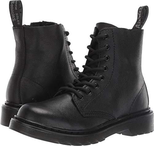 Dr. Martens Kid's Collection Unisex 1460 Pascal Mono Boot (Little Kid/Big Kid) Black Virginia 13 M ()