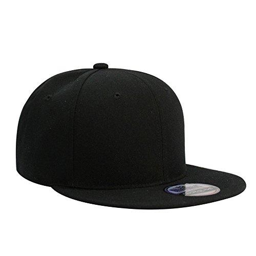 Flat Visor Snapback Hat Blank Cap Baseball Cap - 8 Colors (Mens Flat Brim Hat)