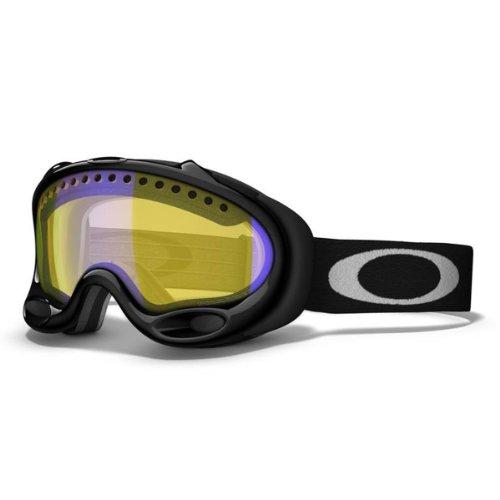 Oakley Unisex-Adult A Frame Snow Goggles (Jet Black, HI Yellow), Outdoor Stuffs