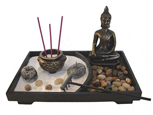 Garden Collection Zen (Feng Shui Import Desktop Zen Garden with Thai Buddha Statue)
