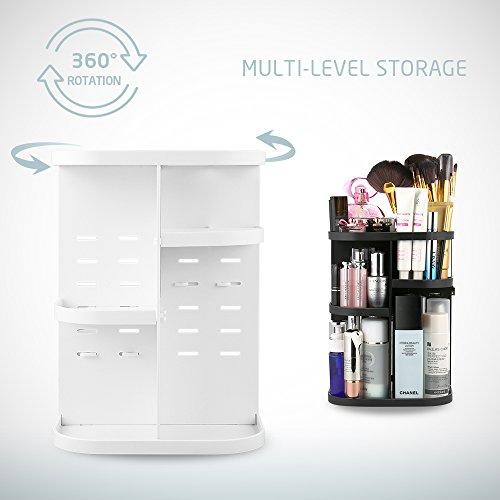 Jerrybox Makeup Organizer 360 Degree Rotation Adjustable