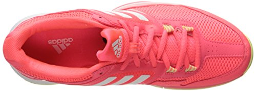 Adidas Prestaties Vrouwen Barricade Club Training Schoen Flash Rood Wit / Ice Gele Stof