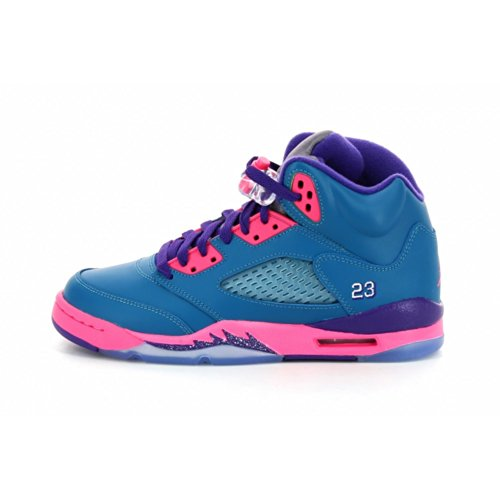 Girls Air Jordan 5 Retro (GS) - 5Y ''Tropical Teal'' - 440892 307 by Jordan