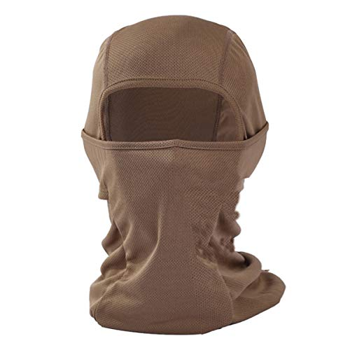 Balaclava Windproof Ski Mask Motorcycle Neck Breathable Tactical Hood Travelling Outdoor Sports-Brown