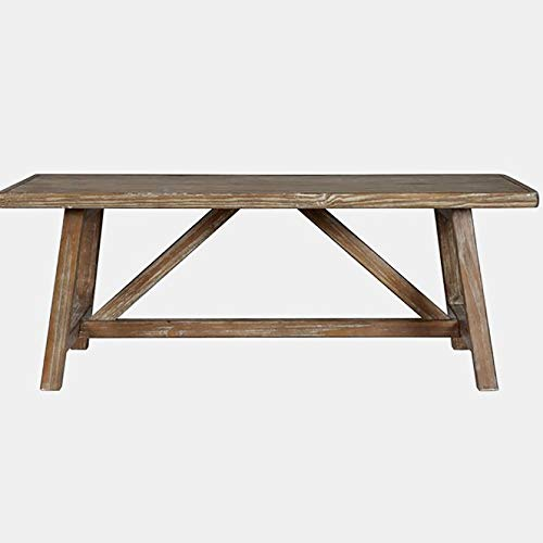 Wood Coffee Table - Coffee Table with Angled Legs - Brown 48' Wicker Coffee Table