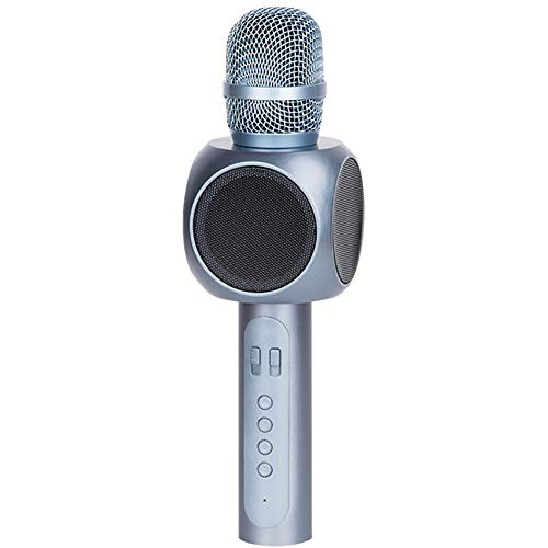ZUKN Bluetooth Karaoke Microphone Wireless Mikrofon Karaoke with Speaker Amplifier Music Player Singing Mic,Blue ()