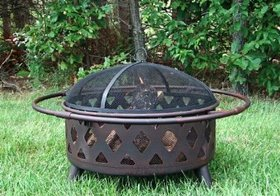 Backyard Expressions 911592 Outdoor Backyard Lattice Fire Pit