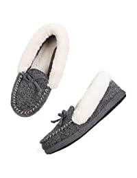 ULTRAIDEAS Women's Memory Foam Moccasin Slippers