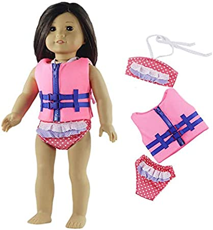 "For 18/"" American Doll Handmade Summer Swimsuit Doll Clothing Dress up Accs"