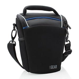 Top Loading Travel DSLR Camera Case Bag with Adjustable Dividers and Padded Shoulder Strap by USA Gear Canon EOS SX530 HS , SX410 IS / Rebel SL1 , T5 / T5i , T6 / T6i and More Digital SLR Cameras