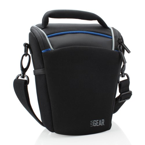 (USA Gear Portable DSLR Camera Case Bag with Top Loading Accessibility - Compatible with Fujifilm X-T2, Finepix S9800, Pentax K-70 and More DSLR Cameras)