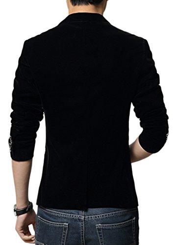 Costume Velour Noir Blazer Mariage Style À Manches De Veste Longues D'affaires Hommes Insun 1 Bouton HTgqScUY