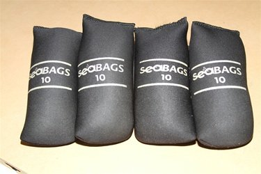 Seasoft Lead Weight Packages 40lbs (4x10lb) - Neoprene Bags perfect for Scuba Diving BCs