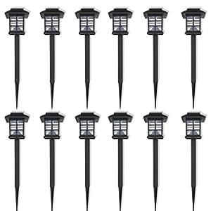 Vidaxl juego de luces solares tipo led luces para exteriores 12 unidades jard n - Luces exteriores solares ...