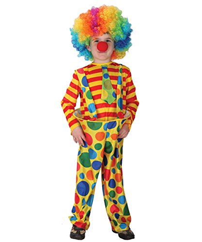NBVIC Child Hoopy The Clown Costume Kids Circus Halloween Costume Make up Yellow]()