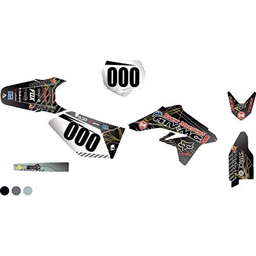 (Attack Graphics Custom Havoc Complete Bike Graphics Kit Black/Dark Grey - Fits: Suzuki RMX450Z 2017-2019)