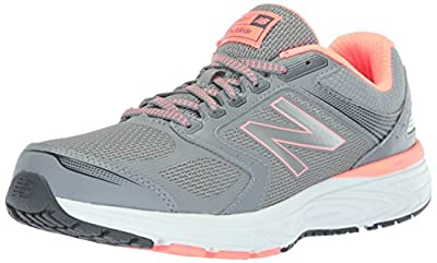 New Balance Women's W560v7 Cushioning Running Shoe, Steel, 7.5 D US