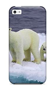 New Baby Polar Bears Tpu Cover Case For Iphone 5c