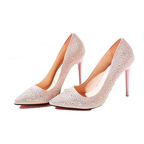 Rosa Alti Highxe Moda Di Centimetri 10 Diamante 37 Pink10cm Acqua 39 Tacchi Tqx5wq8A