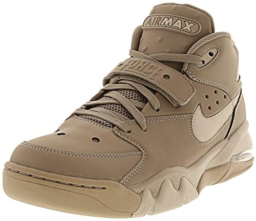 Nike Men's Air Force Max Sepia Stone/Moon Particle High-Top Leather Basketball Shoe - 10.5M
