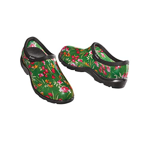 Fresh Cut Green Sloggers Waterproof Garden Shoes - Molded Arches for All Day Comfort and Deep Treads, Fresh Cut Green, 10 - Made in The USA
