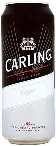 Carling Lager 500ml (paquete de 24 x 500 ml)