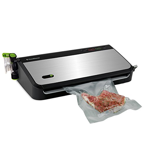 FoodSaver FM2435-ECR Vacuum Sealing System with Bonus Handheld Sealer and Starter Kit, Silver (Vacuum Food Sealers)