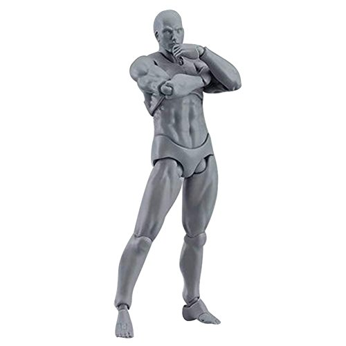 Tulas 2 Pcs/Set Action Figure Model, Human Mannequin Man /Woman Action Figure Equitment with Accessories Kit,Suitable for Sketching, Painting, Drawing, Artist, Kids, Cartoon Figures Action by Tulas (Image #4)