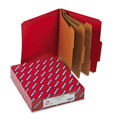 Smead - 3'' Expansion Folders With 2/5 Cut Tab Letter Eight-Section Bright Red 10/Box ''Product Category: File Folders Portable & Storage Box Files/Folders''