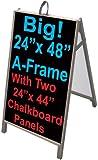 NEOPlex 25'' x 48'' Sidewalk Sandwich Board A-frame w/Chalkboard Insert Panels