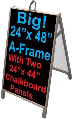 NEOPlex 25'' x 48'' Sidewalk Sandwich Board A-frame w/Chalkboard Insert Panels by NEOPlex