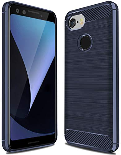 Google Pixel 3 Case,Pixel 3 Case, Sucnakp TPU Shock Absorption Technology Raised Bezels Protective Case Cover for Google Pixel 3 Case (TPU Blue)