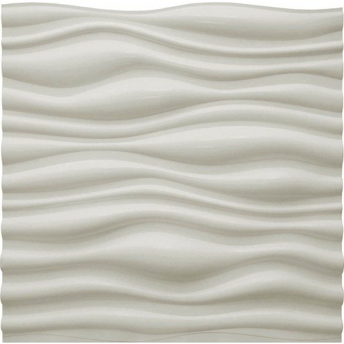 Dunes 3D Wall Panels - Decorative Luxury Wavy Interior Design Wall Paneling Decor Commercial And Residential Application (Commercial Brick Light)