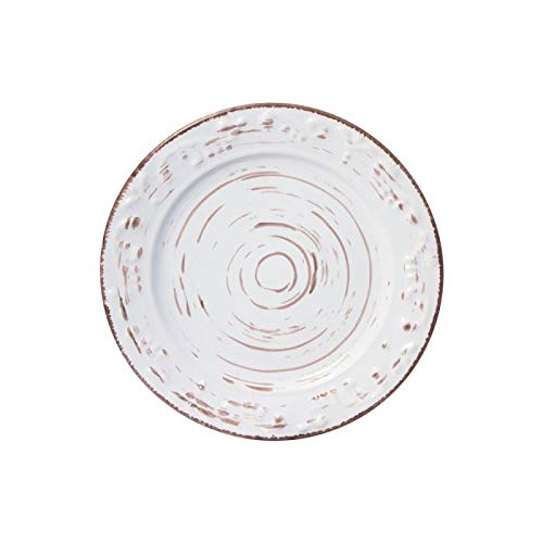 Trellis White Appetizer Plate