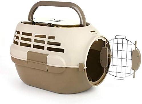 LWSJP ペットポータブルケージエアケージ 犬 天窓付き ペットエアボックス アウトポータブル猫委託箱 (色 : Pink)