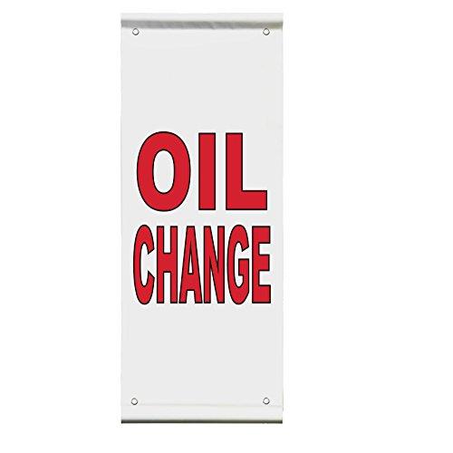 Oil Change Auto Body Shop Car Repair Double Sided Vertica...