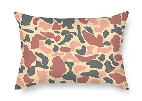 MaSoyy Pillow Covers 20 X 26 Inches / 50 by 65 cm(Twice Sides) Nice Choice for Gril Friend Car Seat Boy Friend Her Car Family Camo
