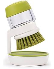 JOSEPH JOSEPH 85004 Palm Scrub Palm Dish Brush, Green and White