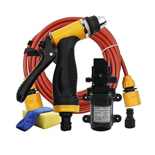 CHUIR Portable Electric Car Washer Machine 12V High Pressure Gun Water Pump Device Auto Cleaning Kits (Electric Car Portable Wash)