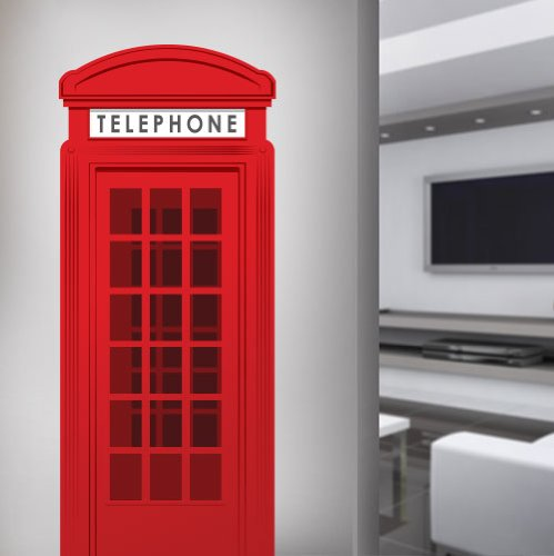 WB000025_24 English Telephone Booth 24 Inch Vinyl Wall for sale  Delivered anywhere in Canada