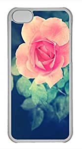 iPhone 5c case, Cute Beautiful Pink Rose In The Garden iPhone 5c Cover, iPhone 5c Cases, Hard Clear iPhone 5c Covers