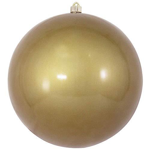 Christmas by Krebs CBK80664 Shatterproof Christmas Ball Ornament, 12, Candy Gold